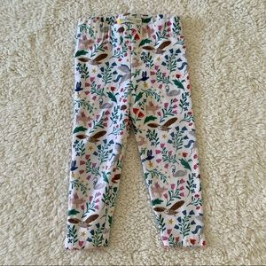 Baby Boden animal and floral leggings size 12-18 M